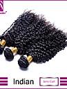"8 ""-30"" indian jerry curl hår väva 3st / lot 100% obearbetade indiska jungfru jerry curl hår"
