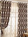 Deux Panneaux Rustique / Moderne / Neoclassique Floral / Botanique Multicolore Chambre a coucher Polyester Rideaux occultants rideaux