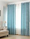 Deux Panneaux Le traitement de fenetre Rustique Moderne Neoclassique Mediterraneen Europeen , Feuille Salle de sejour Melange Lin/Coton