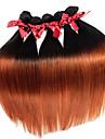 Les cheveux simples soyeux vierge brume bresilien tissent 1pcs deux tons t1b / 30 extensions de cheveux remy trames 50g / pcs