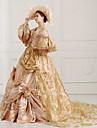 steampunk®georgian guld viktorianska part klänning marie antoinette wholesalelolita rokoko prinsessklänning