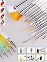 1set nagelborste nail art designs målning utspridda detailing penna borstar bunt verktygslåda set spik styling verktyg (20st / set)