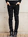 Bărbați Drept Blugi Pantaloni Simplu Solid Casul/Zilnic Talie Medie Fermoar Bumbac Micro-elastic All Seasons