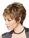 attraktiv brun mode kvinna kort peruk