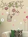 Cartoon Tree Birdcage Wall Stickers