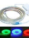 Jiawen 200cm vattentät 12w 120-5050smd 8-stegs rgb ledde flexibel ljuslist (AC110 ~ 220V)