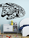 Fashion / folk / fantasi Wall Stickers Väggstickers Flygplan , Vinyl stickers 88*57cm