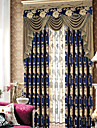 One Panel Country Modern Neoclassical Rococo Floral Botanical Leaf Living Room Blackout Curtains Drapes