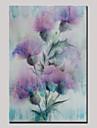HANDMÅLAD Abstrakt Blommig/Botanisk Vertikal,Moderna En panel Kanvas Hang målad oljemålning For Hem-dekoration