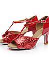 Chaussures de danse ( Noir / Rouge / Argent / Or / Autre ) - Personnalisables - Talon Personnalise - Paillette - Latine / Salsa