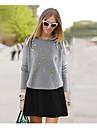 Women's European Style Plus Size Contrast Color Two Pieces Mini Dress