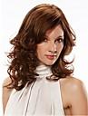 Capless mix färg lång längd högkvalitativa naturliga lockigt hår syntetisk peruk