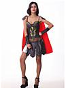 Costumes de Cosplay Costume de Soiree Soldat/Guerrier Fete / Celebration Deguisement d\'Halloween Rouge/noir Mosaique RobeHalloween