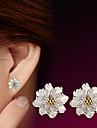 Cercei Stud Pietrele Lunilor Plastic Flower Shape Bijuterii Pentru Nuntă Petrecere Zilnic Casual Sport 1 buc