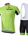 KEIYUEM® Cykeltröja med Bib-shorts Unisex Kort ärm CykelVattentät / Andningsfunktion / Snabb tork / Vindtät / Isolerad / Regnsäker / Damm