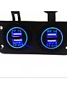 Dubbel USB billaddare. ny,. med vattentät funktion