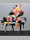 enda modern abstrakt ren handen dra ramlösa dekorationsmåleri piano