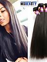 """3 st / lot 8 """"-30"""" 7a peruanska jungfru hår rakt hår förlängningar 100% obearbetade remy människohår väver"""