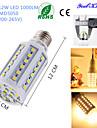 12W E26/E27 LED-lampa T 60 SMD 5050 1000 lm Varmvit Dekorativ AC 220-240 V 1 st