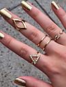 Inele Nuntă / Petrecere / Zilnic / Casual Bijuterii Aliaj Dame Inele Midi 1set,8 Auriu / Argint