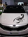 30cm gulliga 3d skorpion bil klistermärken bil styling vinyl dekal klistermärke för bil acessories dekoration