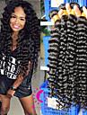 peruanska jungfru hår djup våg 3st / lot 6a peruanska vinkar djupt människohår väva buntar peruanska lockigt hår