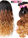 """3 st / lot 16 """"-24"""" 7a 3t jungfruligt indiskt ombre hårfärg 1b / 4/27 # vågigt människohår väver"""