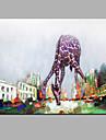 HANDMÅLAD DjurModerna En panel Kanvas Hang målad oljemålning For Hem-dekoration
