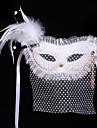 Masque / Bal Masque Ange et Diable Fete / Celebration Deguisement Halloween Blanc Couleur Pleine Masque Halloween / Carnaval Unisexe