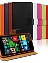 Pentru Carcasă Nokia Portofel / Titluar Card / Cu Stand Maska Corp Plin Maska Culoare solida Greu PU piele NokiaNokia Lumia 1020 / Nokia