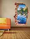 Botanisk / Tecknat / Romantik / Fashion / Landskap / Former / fantasi / 3D Wall Stickers Väggstickers i 3D , PVC90cm x 60cm( 35in x 24in