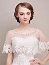 Shawls Shawls Sleeveless Lace / Tulle Ivory Wedding / Party/Evening Scoop Lace / Rhinestone