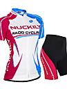 NUCKILY® Maillot et Cuissard de Cyclisme Femme Unisexe Manches courtes VeloEtanche Respirable Resistant aux ultraviolets Permeabilite a