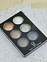 6 Palette Fard a paupieres Sec Palette Fard a paupieres Poudre Ordinaire Maquillage Quotidien