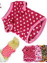 Chat Chien Tee-shirt Pyjamas Bleu Marron Incanardin Rouge Rose Vetements pour Chien Hiver Printemps/Automne Pois Garder au chaud