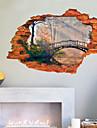 Botanique / Bande dessinee / Romance / Mode / Vacances / Paysage / Forme / Fantaisie / 3D Stickers muraux Stickers muraux 3D , PVC90cm x