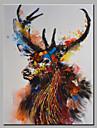 HANDMÅLAD Djur olje~~POS=TRUNC,Moderna En panel Kanvas Hang målad oljemålning For Hem-dekoration