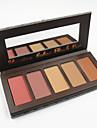5 colros ansikte rouge palett makeup rouge pulversats inställd hud yta bronzer