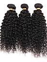 3 faisceaux Kinky boucles extensions de cheveux vierges peruviens quittes beaucoup de tissage de cheveux humains