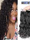 """4 st / lot 12 """"-22"""" 6a brasilianska jungfru hår naturligt våg människohår väft 100% obearbetat brasilianskt remy hår väver"""