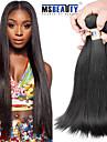 """4 st / lot 8 """"-30"""" 6a brasilianska jungfru hår rakt människohår väft 100% obearbetade brasilianskt remy hår väver"""