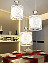 40*40CM Contemporary And Contracted Restaurant Three Creative Crystal Droplight, Wrought Iron Lamp LED