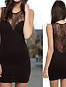 Women\'s Sexy Lace Splicing Sleeveless Mini Dress