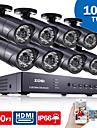 ZOSI® 8CH HDMI 960H DVR 8 pcs 1000TVL IR Home Surveillance Security Cameras CCTV System