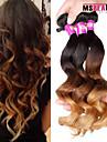 3 st / lot 7a 3T 100% obearbetade jungfru peruanska lösa våg hårförlängningar mänskliga ombre hår väver