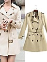 Women\'s Fashion Pure POLO Double Breasted Trench Coat More Colors