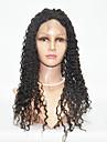 donne brasiliane colore dei capelli vergini (# 1 # 1b # 2 # 4) del merletto dei capelli ricci parrucche della parte anteriore