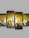 HANDMÅLAD fantasiModerna Fyra paneler Kanvas Hang målad oljemålning For Hem-dekoration