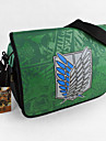 Väska Inspirerad av Attack on Titan Cosplay Animé Cosplay Accessoarer Väska Grön Nylon Man / Kvinna