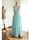 Formal Evening Dress Ball Gown Sweetheart Floor-length Chiffon with Beading / Criss Cross